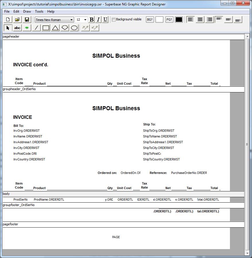 Graphic Report Designer