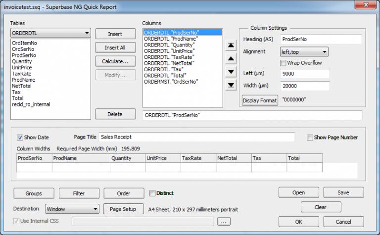 Quick Report Designer