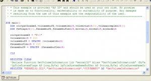 Editing Superbase Basic Language